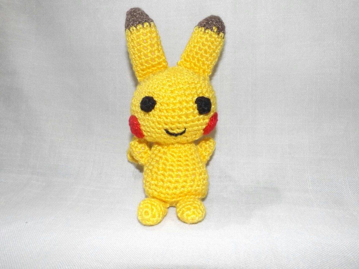 Pikachu Crochet Amigurumi Hecho A Mano Muñecos - $ 280,00 en Mercado ...