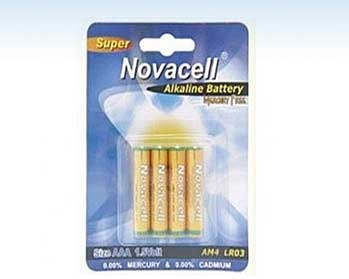 pila alkalina aa 1.5v pack de 4 unidades