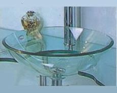 pileta bacha de vidrio transparente apoyar para baño 50633