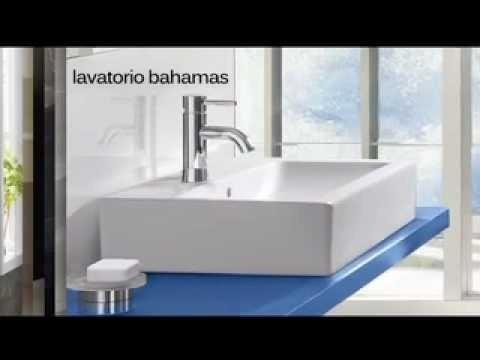 pileta / bacha lavatorio rectangular loza - trébol bahama