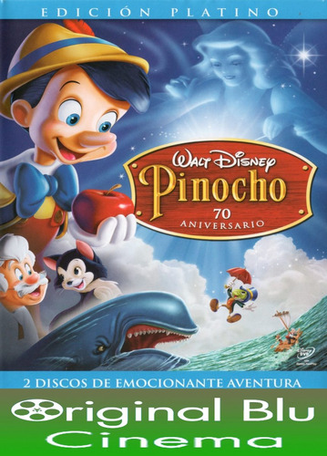 pinocho edición platino 70 aniversario - walt disney - dvd