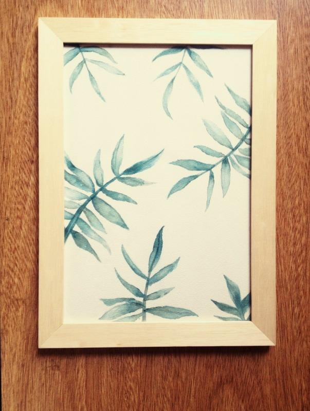 Pintura A Mano ,acrílico ,hojas Helecho,tropical. - $ 800,00 en ...
