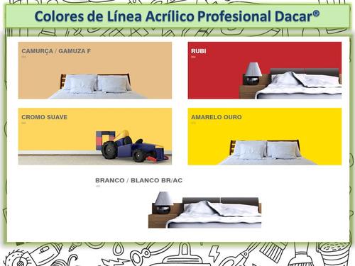 pintura acrílico profesional dacar paredes y techos 3,6 litr