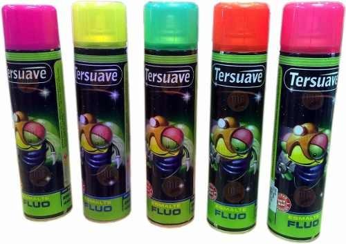 pintura aerosol spray tersuave fluo colores 440 cm3