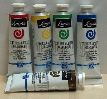 pintura al óleo louvre 35 colores, 3 tamaños oleo de primera