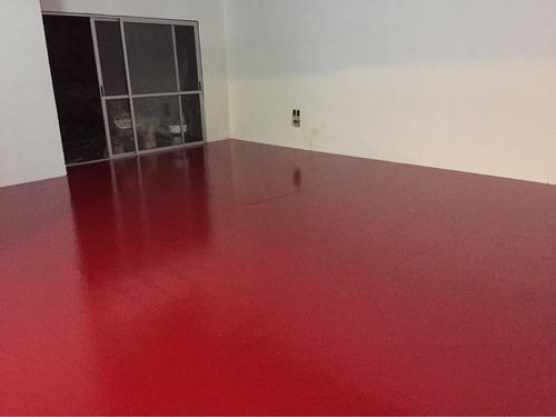 pintura de piso epoxi alto tránsito y porcelanato liquido