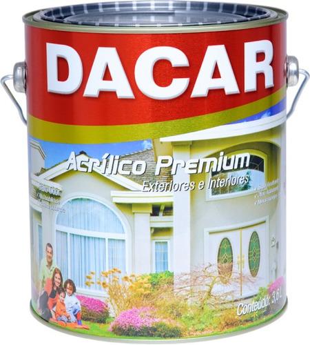 pintura latex acrílico dacar premium interior exterior 18l