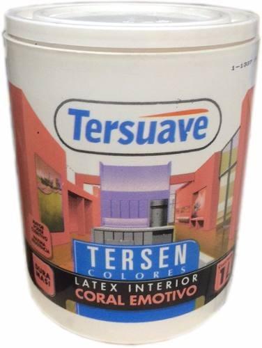 pintura latex interior 1 litro tersen tersuave color pron mf