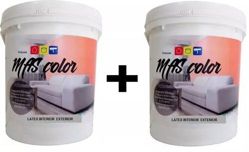pintura latex pared exterior interior antihongo 20 lt+20 lt