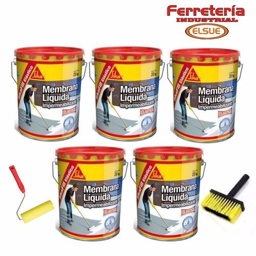 pintura membrana liquida sikafill elastico 5x20 kg + regalos