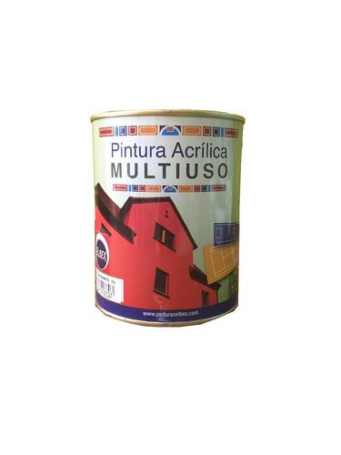 pintura multiuso,pisos,exterior,interior 1lt.amarillo elbex
