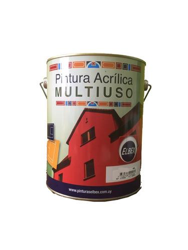 pintura multiuso,pisos,exterior,interior. 4lt.verde elbex