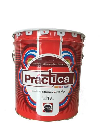 pintura para interior y exterior practica elbex 18 litros