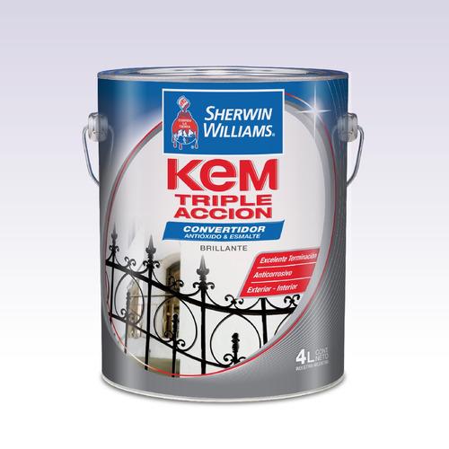 pintura sherwin williams kem triple acc. blanco 1lts