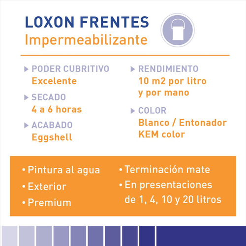 pintura sherwin williams loxon frentes y medianeras 20lts.