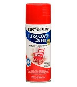 pintura spray aerosol rust-oleum rojo manzan brillante 430ml