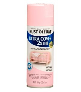 pintura spray aerosol rust-oleum rosa claro brillante 430ml