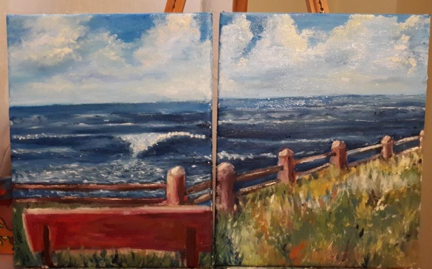 Pinturas A Oleo Marinas Y Rupestres 1 000 00 En Mercado Libre