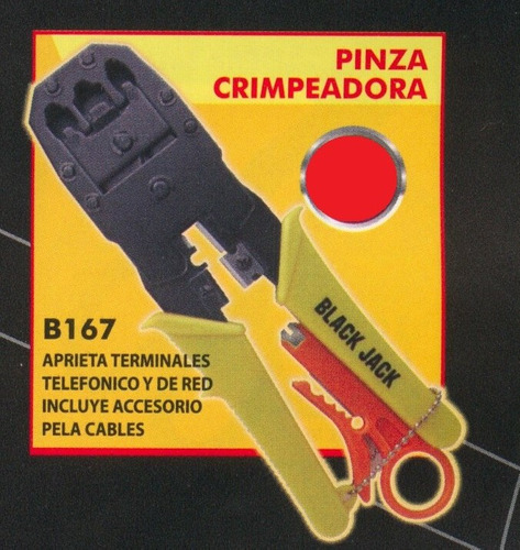 pinza crimpeadora black jack b167