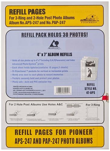 pioneer 4x7 aps 247 album refill professional photo