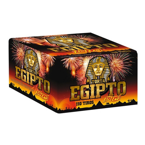 pirotecnia - torta egipto 110 tiros - 1 unidad zig zag