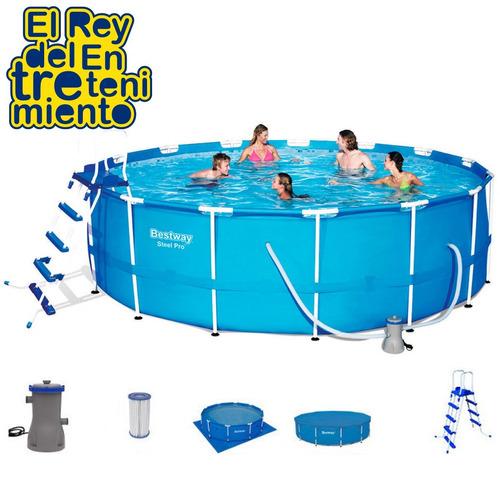piscina bestway estructural 16015 l + bomba + regalos el rey