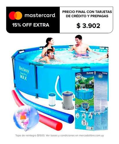 piscina bestway estructural 4678 l + bomba + regalos! el rey