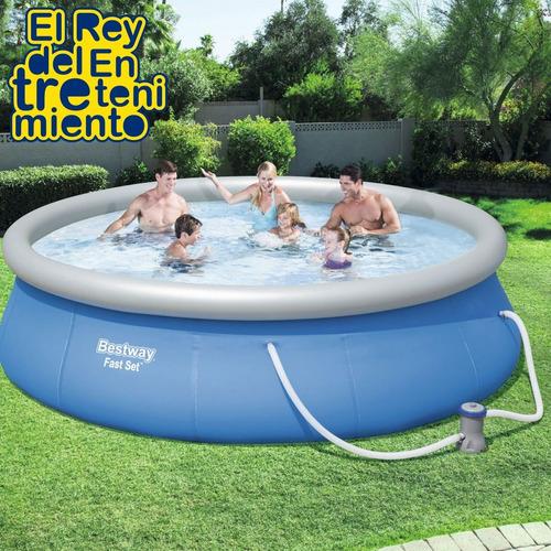 piscina bestway gomón 7340 lts c/ bomba + regalos! - el rey