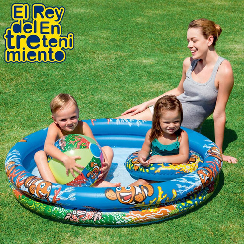 piscina bestway niño bebe + 2 inflables + 50 pelotas! el rey