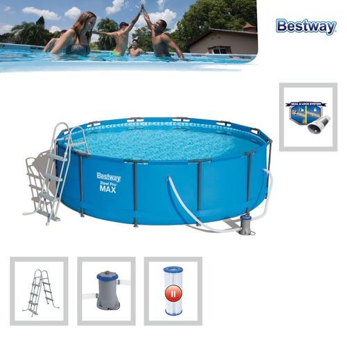 piscina estructural 9150l 3.66mx1m filtro+escalerq bestway