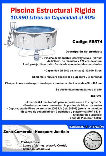 piscina estructural circular rigida 10.990 l - charrua store