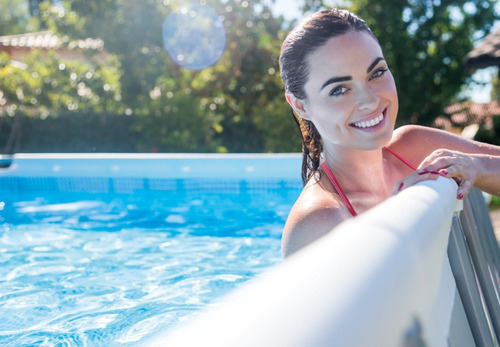 piscina rectangular intex 26778 488x244x107, acuarela
