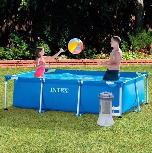 piscina rectangular intex 3 x 2 x 0.76mts bomba y filtro inc
