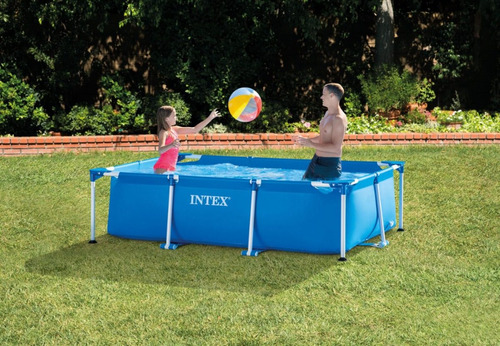 piscina rectangular intex 300x200x75 , acuarela