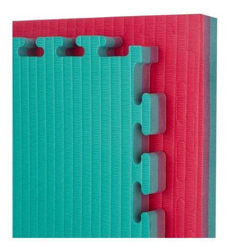 piso de goma eva 100 x 100 x 2 cm - tatami 6 colores - gym