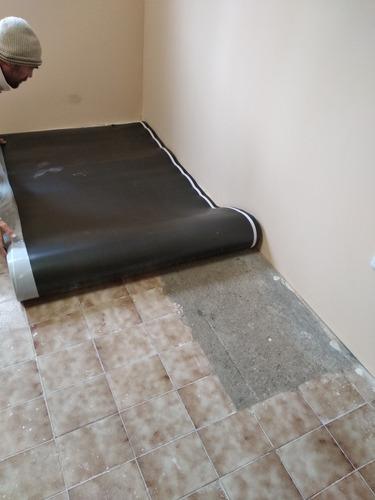 piso flotante ,cielorraso, yeso y conexion a saneamiento