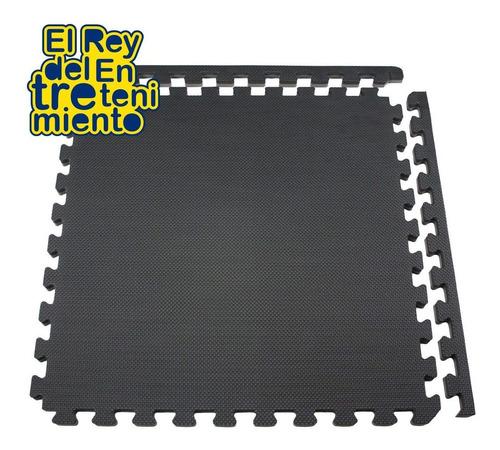 piso tatami goma eva encastrable 1x1m 2cm negro gris- el rey