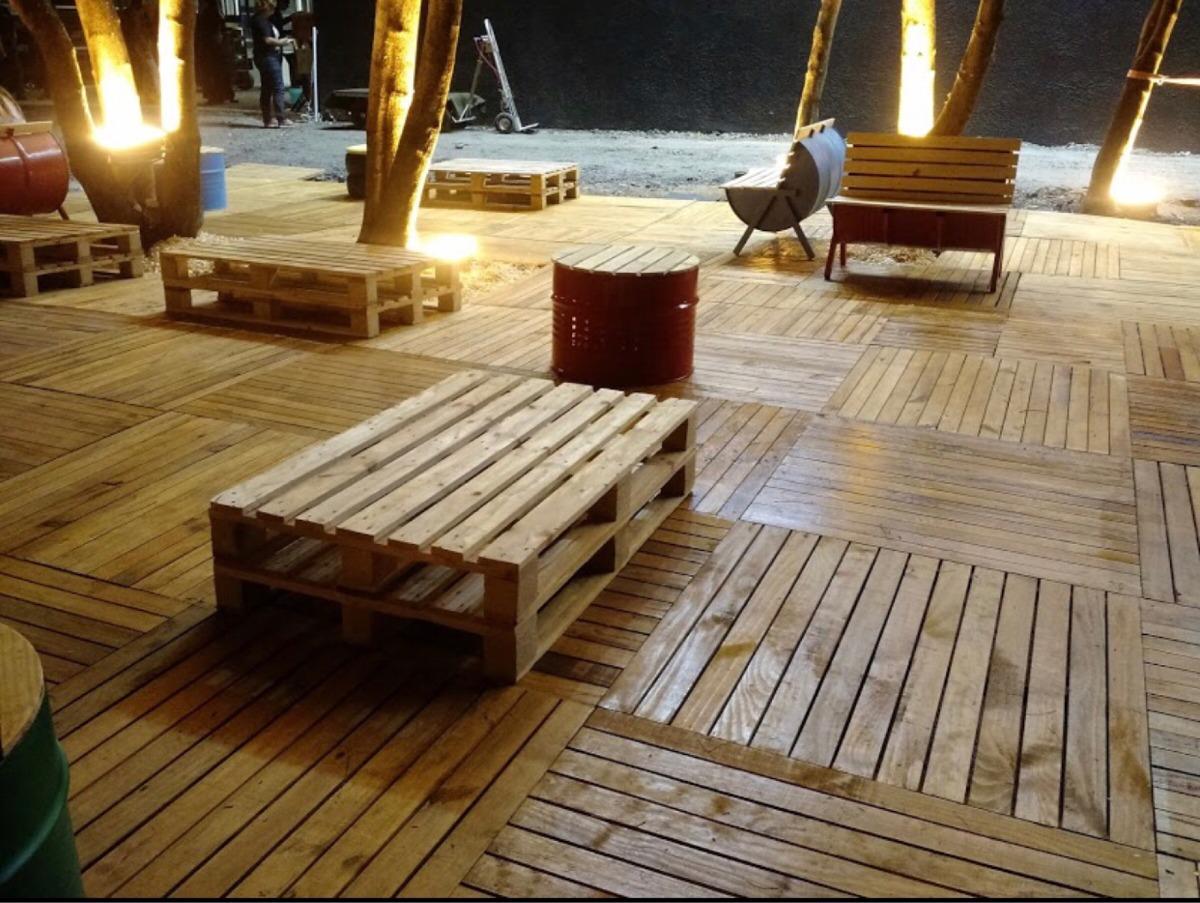 Pisos deck de madera palets en mercado libre - Casas con palets de madera ...
