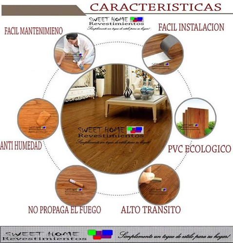 pisos vinílicos listón símil madera