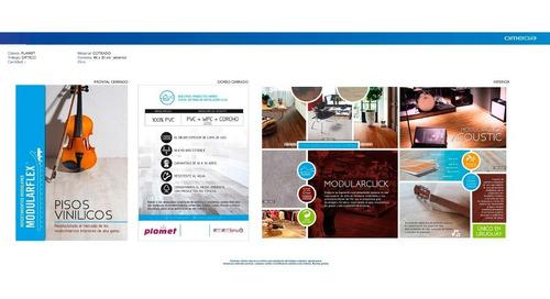 pisos vinílicos sitema click acústico con base de corcho 7mm