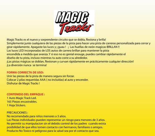 pista de auto flexible magic tracks auto3led edicion light