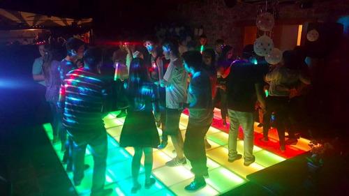 pista de led, audio, luces, discoteca, piso led, pincha nube