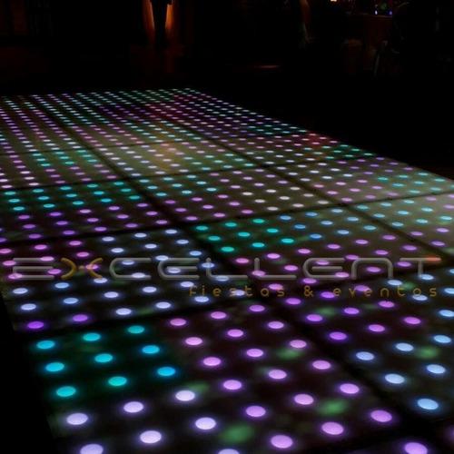 pista / piso led negra / puntos blanco frío y tmb de colores