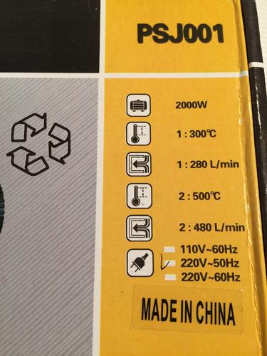 pistola calor industrial 2000w x films vinilos & otros