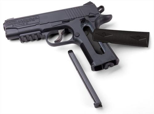 pistola co2 crosman 1911bb + canana + 10 garrafas + 1500 bb