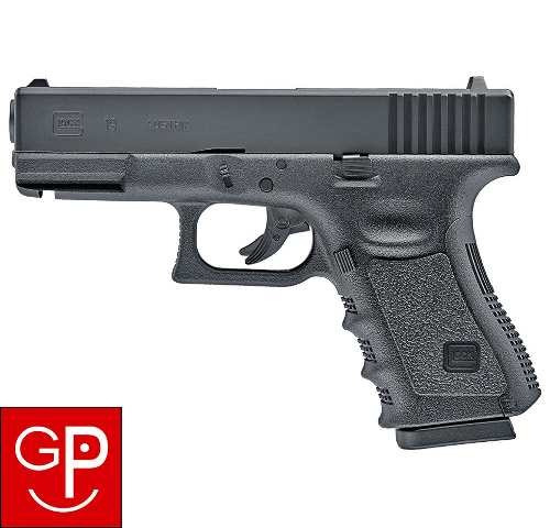 pistola glock 19 co2 corredera de metal 4.5 mm g p