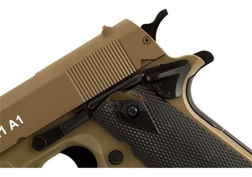 pistola spring 6mm, colt m1911 a1 cybergun slide metal