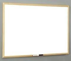 pizarra blanca con marco de madera - medidas: 40 cm x  50 cm