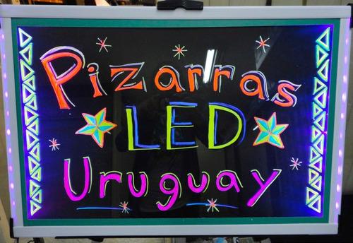 pizarra cartel led 60 x 40 super brillo novedad monocromo