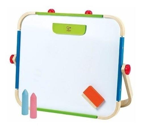 pizarra  magnetica hape niños marcador o tiza 2 en 1
